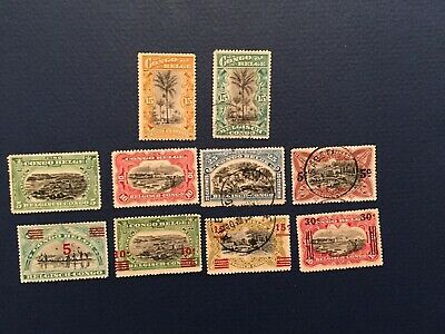 Assortment of older Belgian Congo Stamps. 1915-1922. Mint and Used.