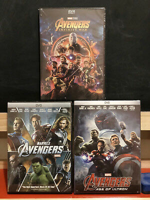 Avengers (DVD Widescreen) Marvel DVDs Infinity War OR ALL 3 Avengers NEW