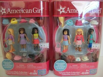 MEGA BLOKS American Girl Downtown & Uptown Style Collections Set 48 Pieces Each