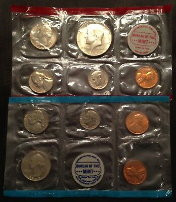 1969 US Uncirculated Mint Set.   10 coins P-D-S.