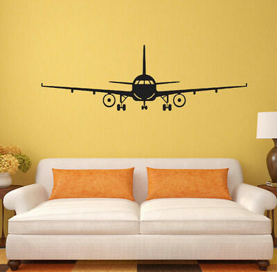 Kids Children Planes Wall Stickers Boys Dusty Plane Bedroom Wall Decal Painting