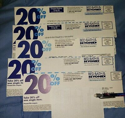 5x Bed Bath & Beyond Coupons: 20% Off Single Item