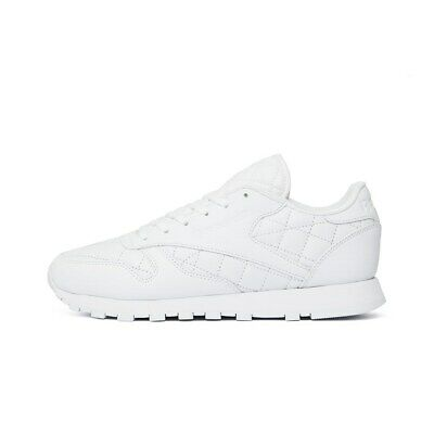 f899af72390ba REEBOK CLASSIC LEATHER Quilted Pack AR1262 white halfshoes - £78.00 ...