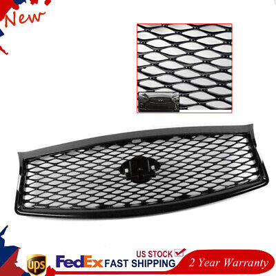 Front Mesh Upper Grill Replacement JDM Eau Style fit for 2014-2017 Infiniti Q50