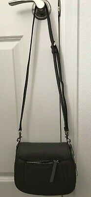 84fbe6bb1999  325 Marc Jacobs Empire City Mini Messenger Leather Crossbody Bag Dark Grey