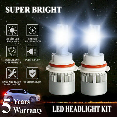 2X 1965W 293250LM All In One LED 9007 Headlight Kit Hi/Lo Beam 6000K White Power