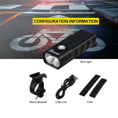 USB Rechargeable Bike Front Light Road MTB Bicycle Cycling LED Head Lamp Torch