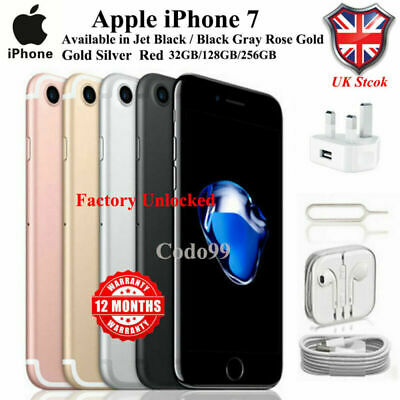 Apple iPhone 7 SMARTPHONE 32GB/128GB/256GB All Colours UNLOCKED FACTORY UK SOLD