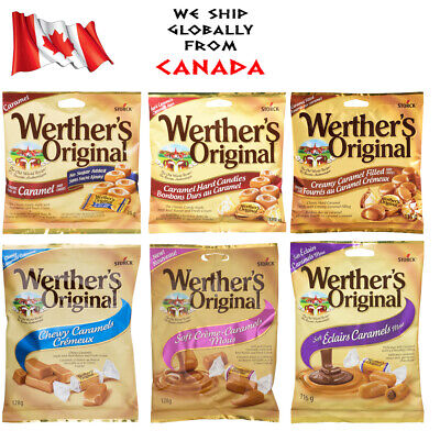 Werther's Original Caramel Candy Chewy Soft Hard Eclairs 135 128 g NEW