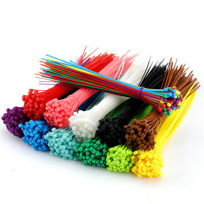 100 Pcs Self-Locking Nylon Plastic Cable Ties Wrap Wire Cord Zip Tie Strap ~