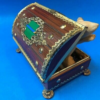 Vintage Dutch Footed Treasure Chest Tin - with Latch & Slot to use as Money Box