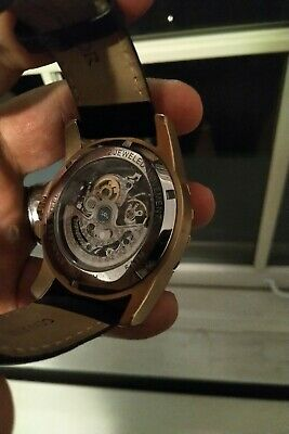 78d928f43 Heritor Automatic Armstrong Skeleton Dial Rose Gold Men's Watch HR3406