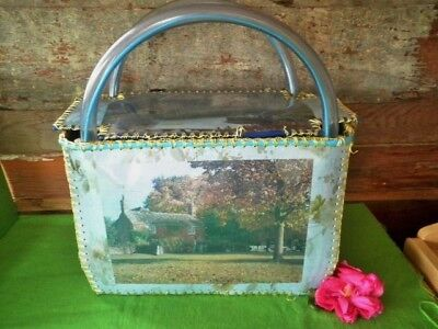 Vintage Card Craft Shopping Bag Knitting Tote Large Handmade Cook's Cottage