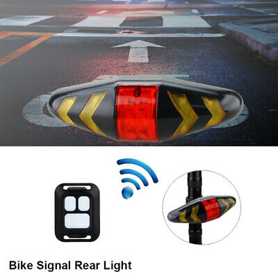 Bicycle Bike Rear LED Tail Light Wireless Remote Control Turn Signals Lamp AAA