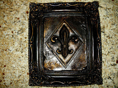 Fleur de Lis, Wall Plaque, Old World, Tuscan, Medieval, French Country, Handmade
