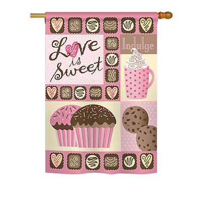 Love is Sweet - Impressions Decorative House Flag - H101048-BO