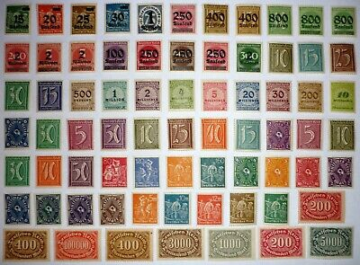 Deutsches Reich. MIXED lot INFLATION. 72 stamps. MNH. See scans.