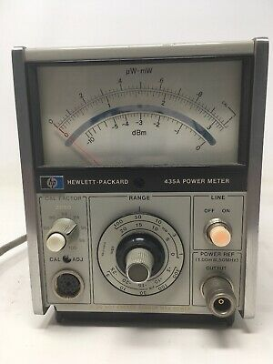 HP Agilent 435A RF Power Meter Tested Working. Sl