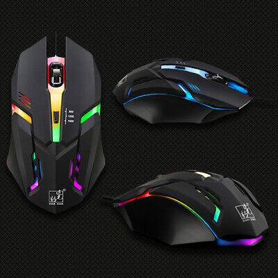 1 Pcs Gaming Mice Mouse  Scroll USB Glowing Wired Optical PC Laptop Computer