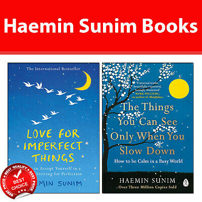 Haemin Sunim 2 Books Collection Pack set Love for Imperfect Things,Things You