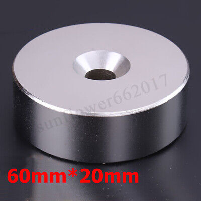 20*60mm N52 Super Strong Round Disc Magnets Hole Rare-earth Neodymium Magnet OZ