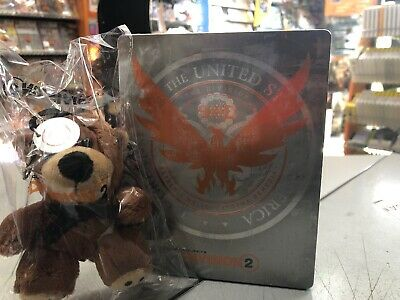 The Division 2 STEELBOOK + Tommy The Teddy Bear (NO GIOCO GAME) SIGILLATO