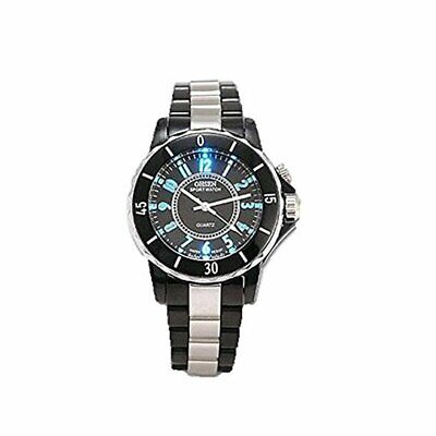 Mens Digital Quartz Wrist Watch Sport Waterproof LED Stainless Steel UK