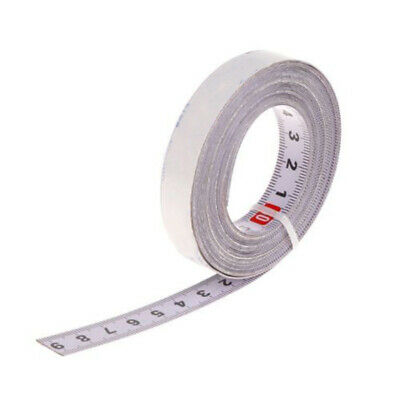 Ruler Saw Track Tape Measure Self Adhesive Metric Steel 1/2/3/5M White 0.51inch