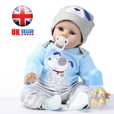 "22"" Full Body Realistic Reborn Dolls Lifelike Baby Boy Newborn Doll Gifts"