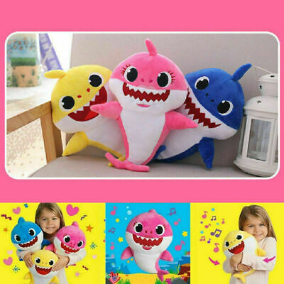 Baby Shark Plush Singing Plush Toys Music Doll English Song Kids Child Toy Gift