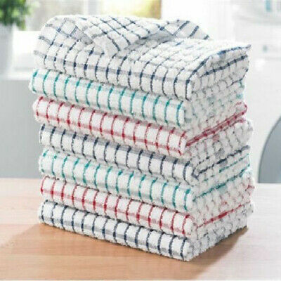Kitchen Tea Towels Dish Cloth Absorbent Drying Towel Washing Cotton Cloth~