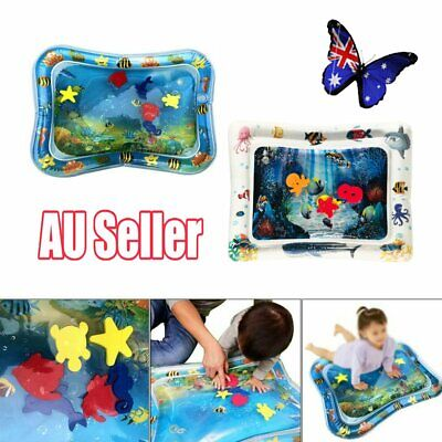 Baby Water Play Mat Inflatable For Infants Toddlers Fun Time Play Activity WU