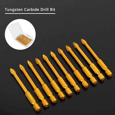 10PCS 6mm Spear Head Tungsten Carbide Drill Bit for Glass Tile Mirror Ceramic