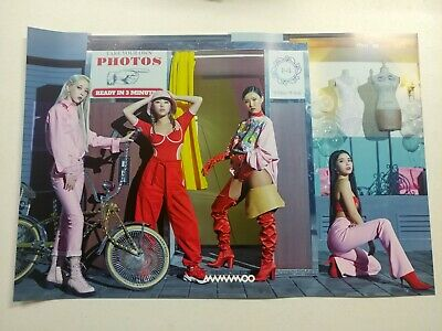 Mamamoo - White Wind (9th Mini Album) Unfolded Official Poster Hard Tube Case