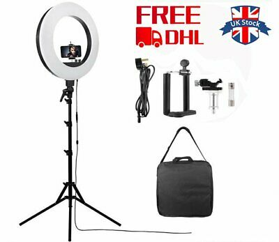 "UK 18""  LED Studio Ring Light Photo Video Lamp Light With stand Kit For Camera"