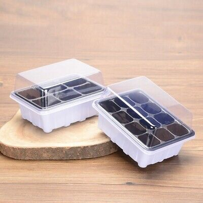 SEED STARTER STARTING Plant Propagation Tray Compartments Dome Germination  Kits