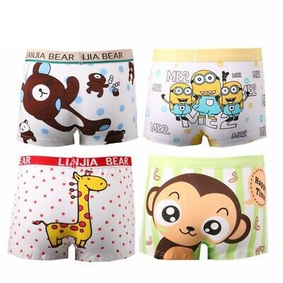 Kids Underpants 4pcs Boys Underwear Boxer Children Clothing Cotton Modal Panties