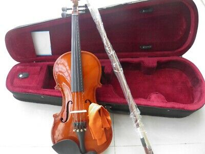Solid Wood Full Set Violin Fiddle Outfit Beginner With Case Bow Parts Accessory