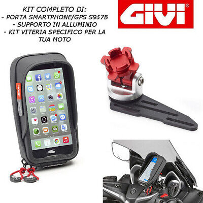 Porta Smartphone Supporto S957B S903A 02Vkit Yamaha Tracer 900 Gt 2018 2019 Givi