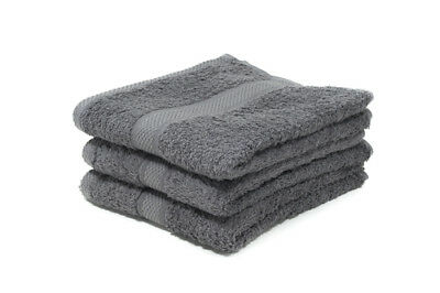 12 X Grey Luxury 100% Egyptian Cotton Hairdressing Towels / Salon / 50x85cm