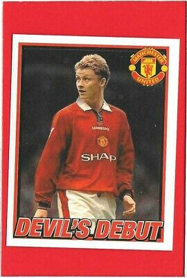 PANINI WORLD CUP 98 #098-NORWAY /& MANCHESTER UNITED-OLE GUNNAR SOLSKJAER