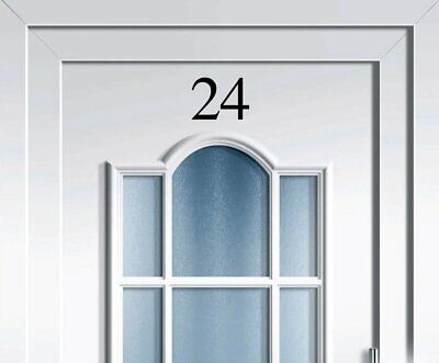FRONT DOOR HOUSE NUMBER Vinyl Sticker 4 Inches/10cm High Various Colour Choices