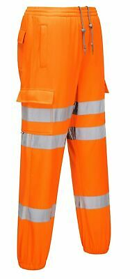 Portwest RT48 Hi Viz Safety Workwear Rail Track Side Orange Jogging Trouser