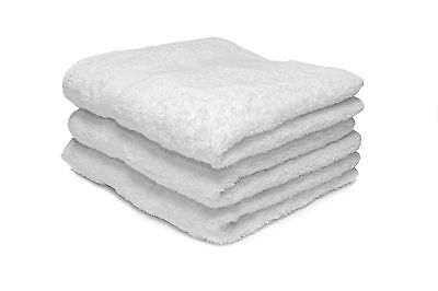 24 X White Luxury 100% Egyptian Cotton Hairdressing Towels / Salon / 50x85cm