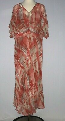 CATO WOMENS DRESS Plus Size 18 W Dolman Sleeve Red Orange Beige ...