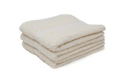 24 X Cream Luxury 100% Egyptian Cotton Hairdressing Towels / Salon / 50x85cm