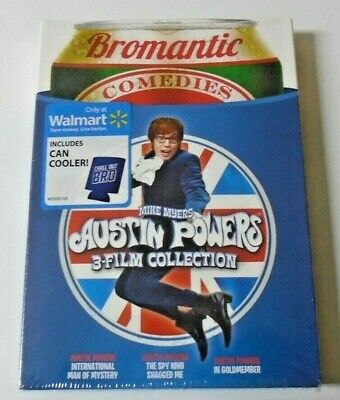 Austin Powers: 3 Film Collection (DVD) W/Can Cooler BRAND NEW SEALED