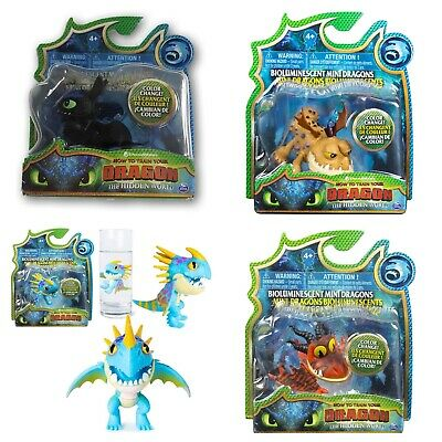 Dreamworks How To Train Your Dragon Bioluminescent Mini Color Change Dragons