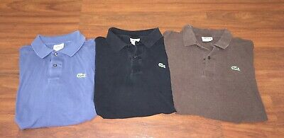 bc6ecc907edc LOT OF 3 Lacoste Mens Classic Polo Shirts Size 7 -  41.99