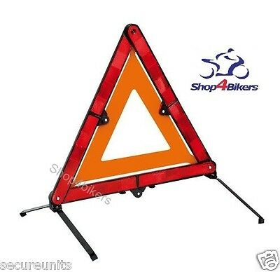 Warning triangle emergency High vis EC EN compact ideal for motorcycling touring